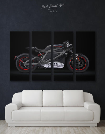 4 Panels Age of Ultron Motorcycle Wall Art Canvas Print - Canvas Wall Art 4 Panels bachelor pad bedroom black Hallway