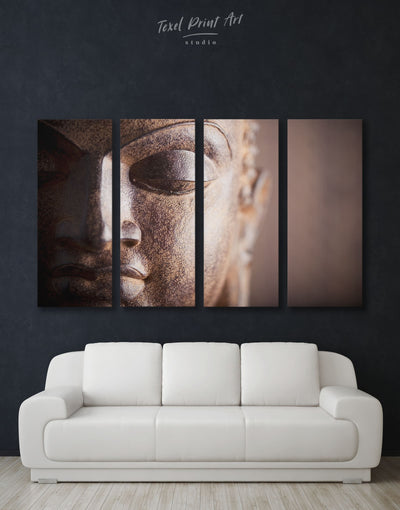 4 Panels Buddhist Wall Art Canvas Print - 4 Panels bedroom Buddha wall art buddhist wall art Hallway