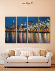 4 Panels Cleveland Wall Art Canvas Print