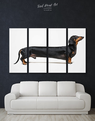 4 Panels Dachshund Wall Art Canvas Print - 4 Panels Animal Animals bedroom Contemporary