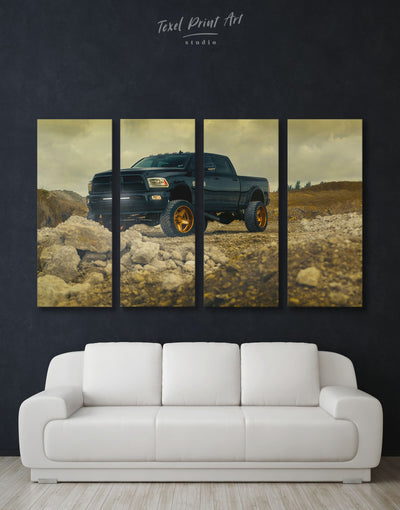 4 Panels Dodge Wall Art Canvas Print - 4 Panels bachelor pad car garage wall art Hallway