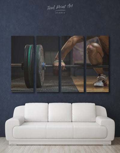4 Panels Gym Wall Art Canvas Print - 4 Panels Home Gym inspirational wall art manly wall art Motivational