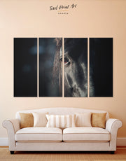 4 Panels Horse Head Wall Art Canvas Print