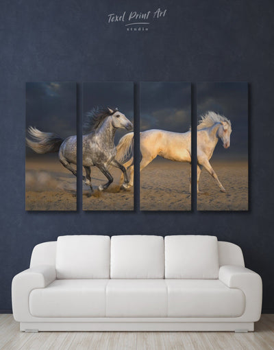 4 Panels Horse Wall Art Canvas Print - 4 Panels Animal Animals bedroom Dining room