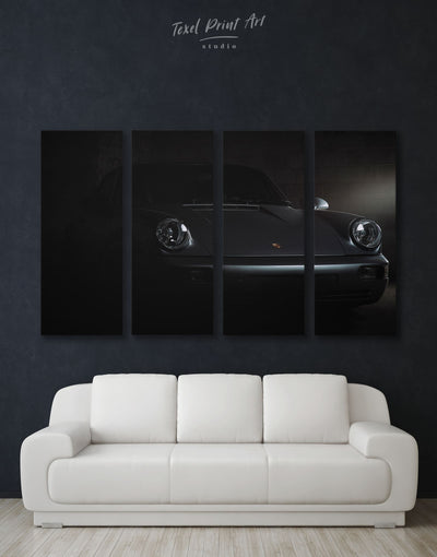 4 Panels Jackson Sportscar Wall Art Canvas Print - 4 Panels bachelor pad black car garage wall art