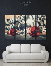 4 Panels Modern Gym Wall Art Canvas Print