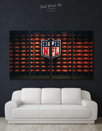 4 Panels NFL Canvas Wall Art - Canvas Wall Art 4 Panels bachelor pad Hallway Living Room NFL