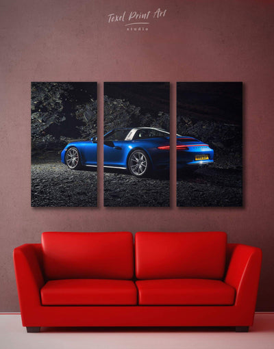 4 Panels Porche Wall Art Canvas Print - 4 Panels bachelor pad car garage wall art Living Room