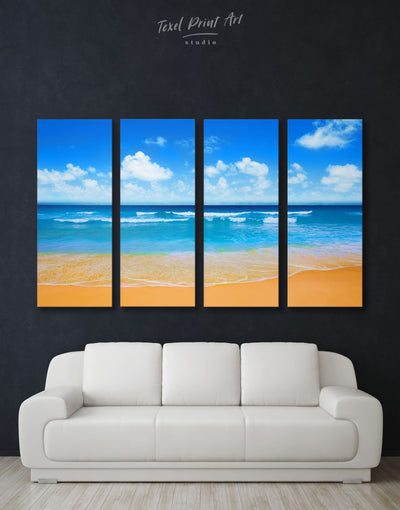 4 Panels Seascape Wall Art Canvas Print - 4 Panels Beach House beach wall art beach wall art for bathroom bedroom
