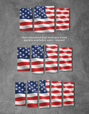 4 Panels United States Wall Art Canvas Print