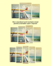 4 Panels Van by the Seaside Wall Art Canvas Print