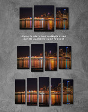 4 Panels Vancouver Skyline Canvas Wall Art