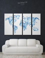 4 Piece Abstract Wall Art Canvas Print