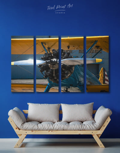 4 Pieces Aviation Wall Art Canvas Print - 4 Panels airplane wall art bachelor pad bedroom Hallway