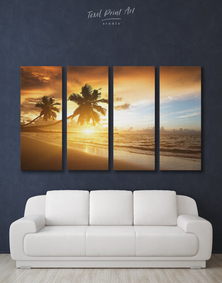 4 Pieces Coastal Wall Art Canvas Print - 4 Panels Beach House beach wall art beach wall art for bathroom bedroom