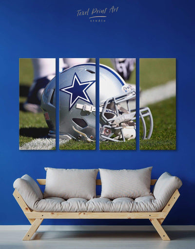 4 Pieces Dallas Cowboys Wall Art Canvas Print - 4 Panels bachelor pad bedroom Dallas Cowboys Farmhouse