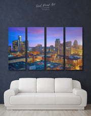 4 Pieces Detroit City Wall Art Canvas Print