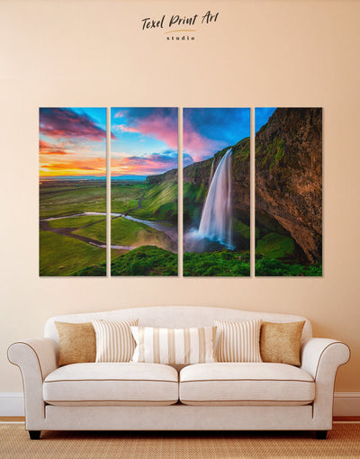 4 Pieces Iceland Wall Art Canvas Print - 4 Panels bedroom Hallway landscape wall art Living Room