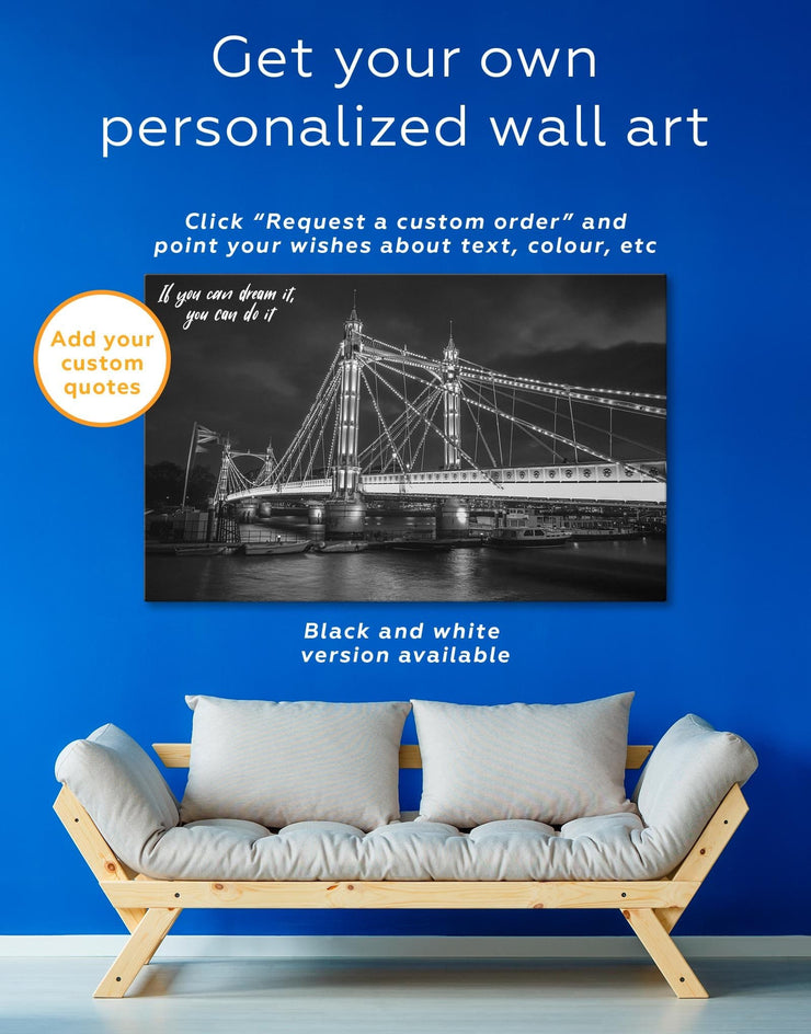 4 Pieces London Bridge Wall Art Canvas Print - Canvas Wall Art 4 Panels bedroom Bridge Hallway Living Room