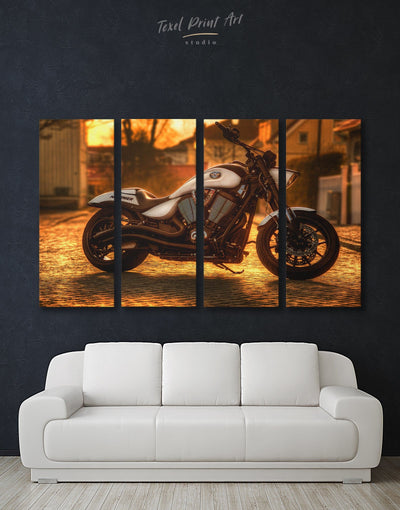 4 Pieces Motorbike Wall Art Canvas Print - 4 Panels bachelor pad bedroom Hallway inspirational wall art