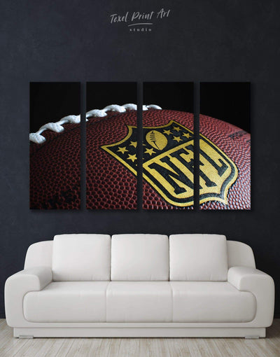 4 Pieces NFL Canvas Wall Art - Canvas Wall Art 4 Panels bachelor pad Living Room NFL Office Wall Art