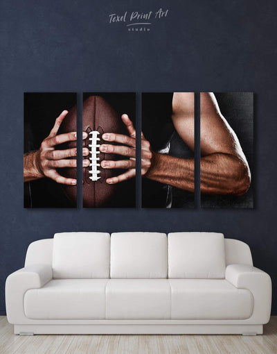 4 Pieces NFL Canvas Wall Art - Canvas Wall Art 4 Panels bachelor pad Hallway Living Room manly wall art