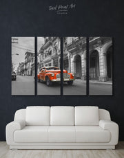 4 Pieces Old Car Wall Art Canvas Print