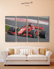 4 Pieces Race Car Wall Art Canvas Print