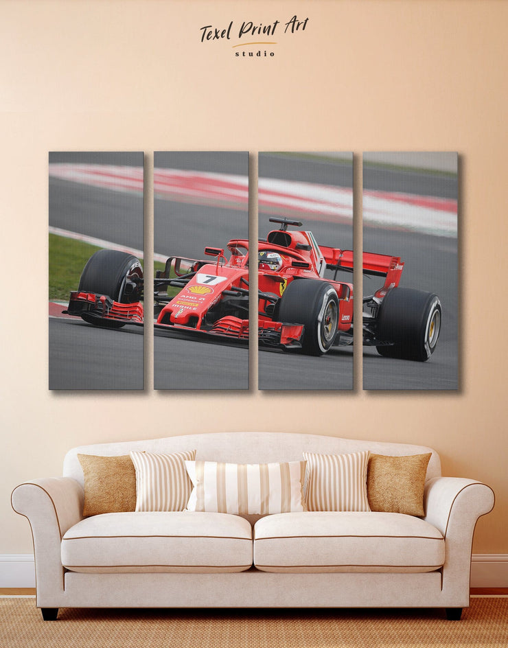 4 Pieces Race Car Wall Art Canvas Print - 4 Panels bachelor pad Car game room game room wall art