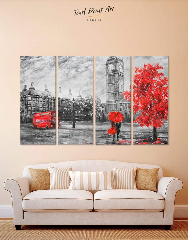 4 Pieces Romantic Wall Art Canvas Print - 4 Panels bedroom Contemporary contemporary wall art Living Room
