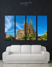 4 Pieces Sagrada Familia Print Canvas