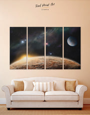 4 Pieces Space Wall Art Canvas Print