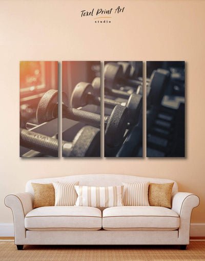 4 Pieces Sports Wall Art Canvas Print - 4 Panels bachelor pad Hallway Home Gym inspirational wall art