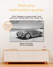 4 Pieces Vintage Car Wall Art Canvas Print 0334