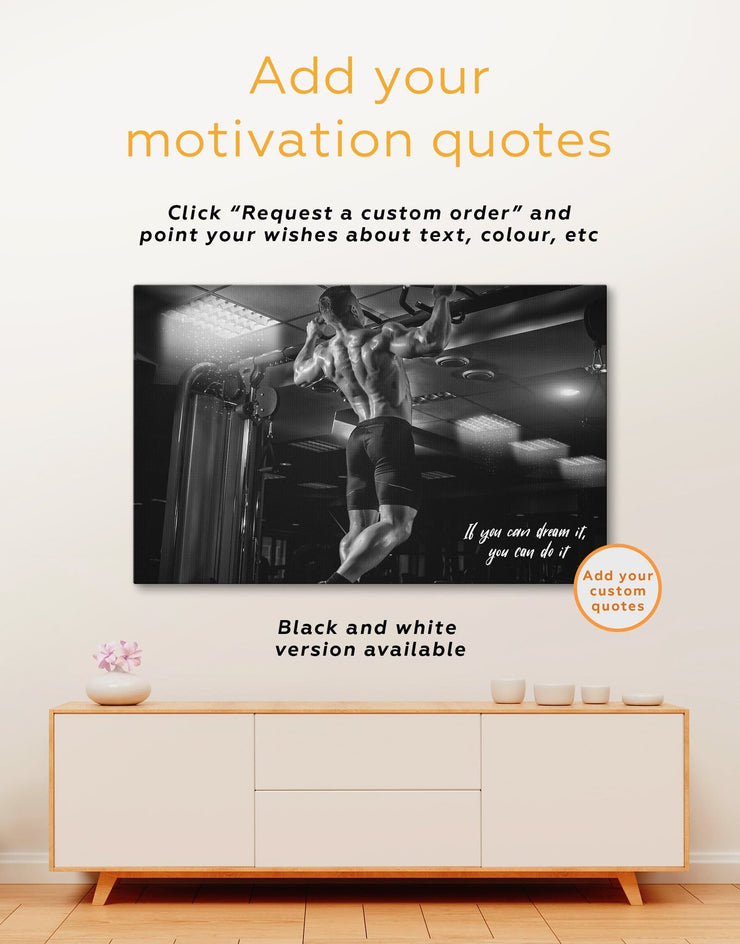 4 Pieces Weightlifting Wall Art Canvas Print - 4 Panels bachelor pad Home Gym manly wall art Motivational