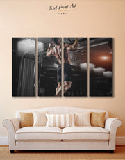 4 Pieces Weightlifting Wall Art Canvas Print