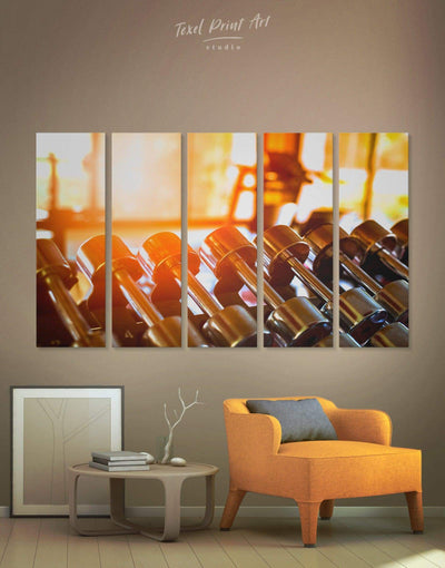 5 Panel CrossFit Wall Art Canvas Print - 5 panels Home Gym inspirational wall art Living Room manly wall art
