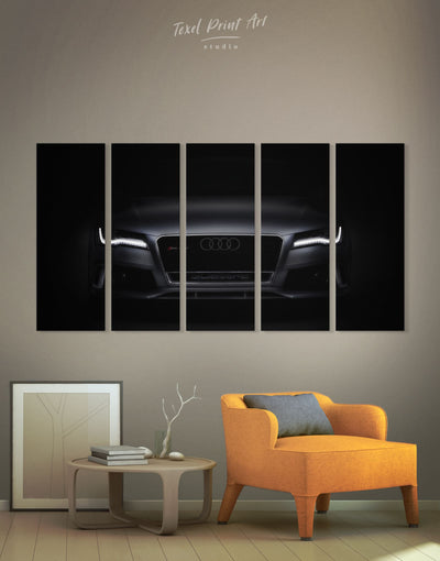 5 Panels Audi Wall Art Canvas Print - 5 panels bachelor pad manly wall art wall art for men