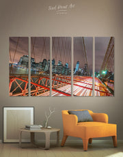 5 Panels Brooklyn Bridge Wall Art Canvas Print