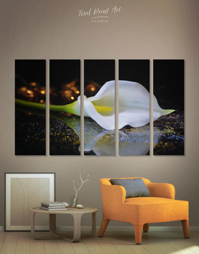 5 Panels Calla Lily Wall Art Canvas Print - Canvas Wall Art 5 panels bedroom flora Floral flower