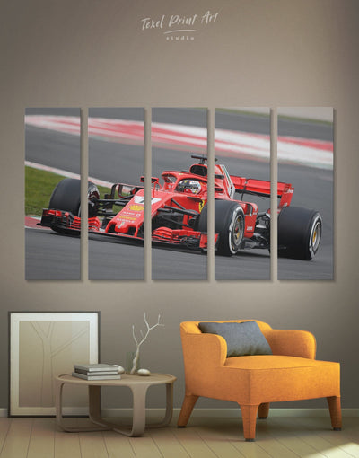 5 Panels Car Wall Art Canvas Print - 5 panels bachelor pad Car game room game room wall art