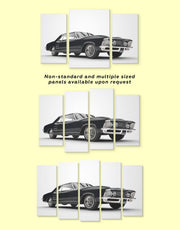 5 Panels Classic Car Wall Art Canvas Print