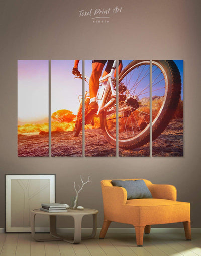 5 Panels Cycling Wall Art Canvas Print - 5 panels bedroom bicycle wall art Hallway Home Gym