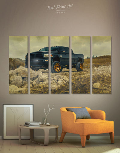 5 Panels Dodge Ram Wall Art Canvas Print - 5 panels bachelor pad car garage wall art Hallway