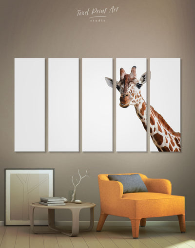 5 Panels Funny Giraffe Wall Art Canvas Print - 5 panels Animal Animals bedroom Living Room