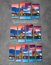 5 Panels Germany Cityscape Wall Art Canvas Print