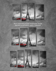 5 Panels Majestic Eiffel Tower Wall Art Canvas Print
