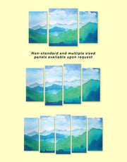 5 Panels Mountain Wall Art Canvas Print