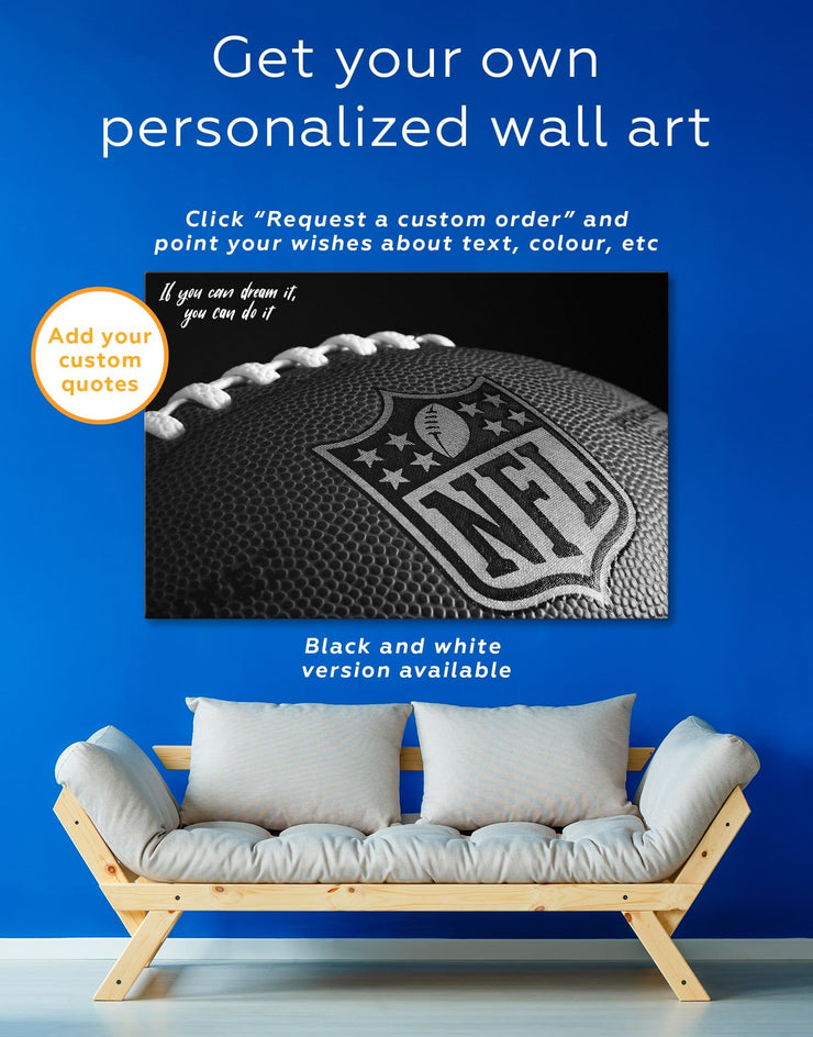 5 Panels NFL Canvas Wall Art - Canvas Wall Art 5 panels bachelor pad Living Room NFL Office Wall Art