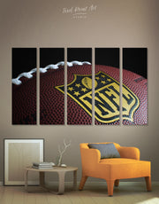 5 Panels NFL Canvas Wall Art